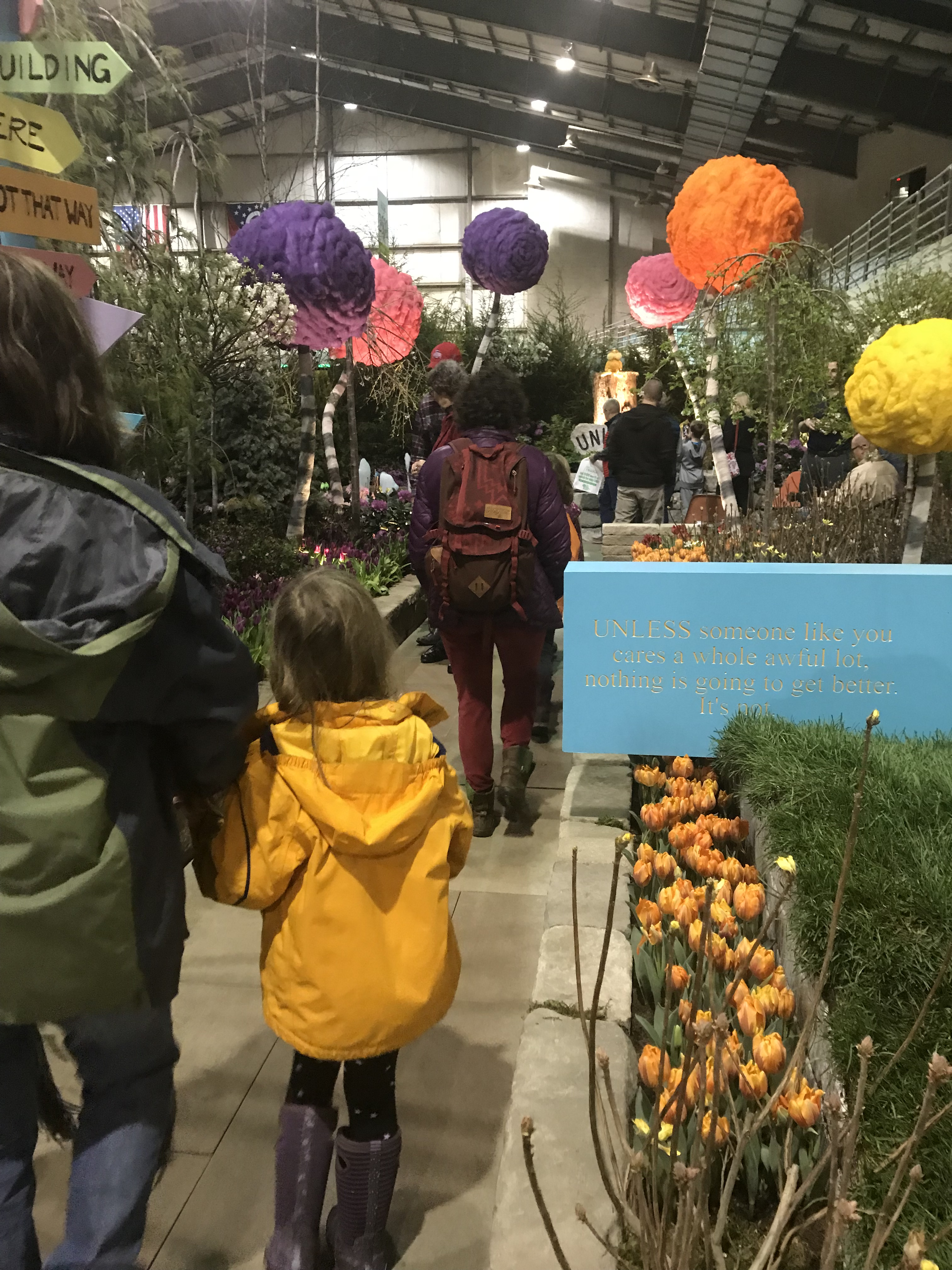 The Lorax Garden Installation. Mildly Amusing, But Not Really Useful As  Urban Farming Inspiration.